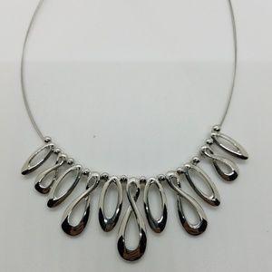 Lia Sophia Silver Collar Illusion Necklace